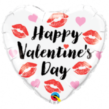 "Valentines Kissey Lips Foil Balloon (18"") 1pc"